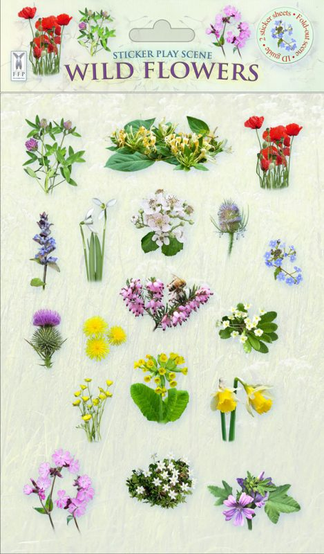 Sticker Scene: Wild Flowers
